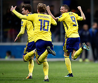 Soccer Football - 2018 World Cup Qualifications - Europe - Italy vs Sweden - San Siro, Milan, Italy - November 13, 2017 <br /> Sweden's players celebrate their qualification at the end of the FIFA World Cup 2018 qualification football match between Italy and Sweden at the San Siro stadium in Milan, on November 13, 2017. <br /> Italy failed to reach the World Cup for the first time since 1958.<br /> UPDATE IMAGES PRESS/Isabella Bonotto