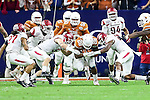 Texas Longhorns running back Malcolm Brown (28) in action during the Advocare V100 Texas Bowl game between the Arkansas Razorbacks and the Texas Longhorns at the NRG Stadium in Houston, Texas. Arkansas defeats Texas 31 to 7.