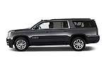 Car Driver side profile view of a 2015 GMC Yukon Xl Sle 5 Door Suv 2WD Side View