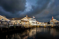 A storm moves in at Nantucket Harbor.