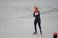 OLYMPIC GAMES: PYEONGCHANG: 10-02-2018, Gangneung Ice Arena, Short Track, Heats 500m Ladies, Suzanne Schulting (NED), ©photo Martin de Jong