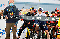 4th July 2021; Tignes, France;  MARTIN Tony (GER) of JUMBO-VISMA and GREIPEL Andre (GER) of ISRAEL START-UP NATION during stage 9 of the 108th edition of the 2021 Tour de France cycling race, a stage of 144,9 kms between Cluses and Tignes on July 4