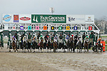 NEW ORLEANS, LA - JANUARY 21:<br />  Out of the gates during the LeComte Stakes at the Fairgrounds Race Course on January 21,2017  in New Orleans, Louisiana. (Photo by Steve Dalmado/Eclipse Sportswire/Getty Images)
