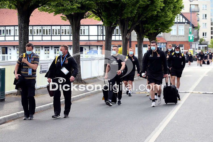 Friday 14th May 2021; Ulster players and management arriving for the Guinness PRO14 Rainbow Cup Round 3 clash between Leinster and Ulster at The RDS Arena, Ballsbridge, Dublin, Ireland. Photo by John Dickson/Dicksondigital