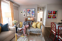 Bartus Taylor Tuesday August 17, 2021 at his Fayetteville apartment.(NWA Democrat-Gazette/J.T. Wampler)