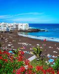 Spanien, Kanarische Inseln, Teneriffa, Puerto de la Cruz: Playa Jardin und Punta Brava | Spain, Canary Islands, Tenerife, Puerto de la Cruz: Playa Jardin and Punta Brava