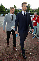 Pictured: Gregor Zabret (R) Wednesday 18 May 2017<br /> Re: Swansea City FC, Player of the Year Awards at the Liberty Stadium, Wales, UK.
