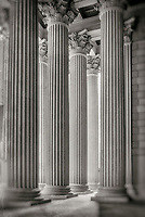 National Archives Washington DC Architecture Black and White Photography Washington DC Art - - Framed Prints - Wall Murals - Metal Prints - Aluminum Prints - Canvas Prints - Fine Art Prints Washington DC Landmarks Monuments Architecture