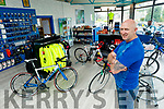 Eamon Foley in his Spin Doctor Cycling shop in Abbeyfeale on Thurday.