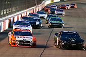 #18: Riley Herbst, Joe Gibbs Racing, Toyota Supra Monster Energy and #98: Chase Briscoe, Stewart-Haas Racing, Ford Mustang Nutri Chomps