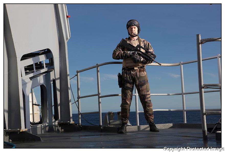 Porte hélicoptères Jeanne d'Arc<br /> Ocean Atlantique<br /> Fusilier marin<br /> PM Saunier