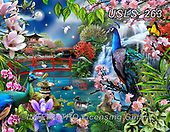 Lori, LANDSCAPES, LANDSCHAFTEN, PAISAJES, paintings+++++Peacock Puzzle_8X10_72_2014,USLS263,#l#, EVERYDAY ,puzzle,puzzles