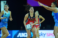 Tactix' Samon Nathan during the ANZ Premiership netball final between Northern Mystics and Mainland Tactix at Spark Arena in Auckland, New Zealand on Sunday, 8 August 2021. Photo: Dave Lintott / lintottphoto.co.nz