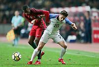 Leiria, Portugal - Tuesday November 14, 2017: Jorge Villafaña during an International friendly match between the United States (USA) and Portugal (POR) at Estádio Dr. Magalhães Pessoa.