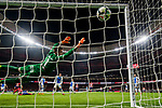 Goalkeeper Ivan Cuellar Sacristan of CD Leganes fails to save the ball shot by Antoine Griezmann of Atletico de Madrid during the La Liga 2017-18 match between Atletico de Madrid and CD Leganes at Wanda Metropolitano on February 28 2018 in Madrid, Spain. Photo by Diego Souto / Power Sport Images