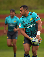 Ngani Laumape. Hurricanes rugby union training at Rugby League Park in Wellington, New Zealand on Wednesday, 19 April 2017. Photo: Dave Lintott / lintottphoto.co.nz