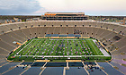 "April 9, 2021; The Department of Film, Television and Theatre (FTT), with the Notre Dame Symphony Orchestra and the Notre Dame Folk Choir, produced ""Jesus Christ Superstar"" on the field of Notre Dame Stadium. FTT had planned to put on the production in April 2020, but the pandemic prevented that from happening. (Photo by Matt Cashore/University of Notre Dame)"