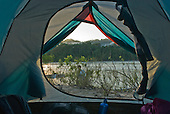Pará State, Brazil. Campsite on the Xingu River.