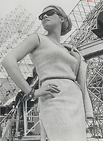 1967 FILE PHOTO - ARCHIVES -<br /> <br /> Canada's own pauline depatie is press aide. Marriage can wait; says Pauline; an ex-stewardess<br /> <br /> 1967<br /> <br /> PHOTO : Boris Spremo - Toronto Star Archives - AQP
