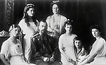 Portrait photo c1914 of Tsar Nicholas II of Russia and his family - all murdered in July 1918 following the Russian Revolution.