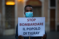 12.11.2020 - Tigray People's Demo Outside The Italian Parliament