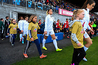 Sandefjord, Norway - June 11, 2017: Abby Dahlkemper in action during the USWNT game vs Norway in an international friendly at Komplett Arena.