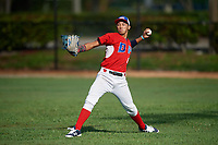 Luis Rivas (8) during the Dominican Prospect League Elite Florida Event at Pompano Beach Baseball Park on October 14, 2019 in Pompano beach, Florida.  Luis Rivas (8).  (Mike Janes/Four Seam Images)