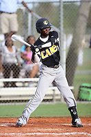 DJ Burt, #1 of St. Sebatians High School, MA playing for the Evoshield Canes Team during the WWBA World Championship 2013 at the Roger Dean Complex on October 27, 2013 in Jupiter, Florida. (Stacy Jo Grant/Four Seam Images)