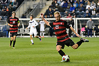 Chester, PA - Friday December 08, 2017: Derek Waldeck The Stanford Cardinal defeated the Akron Zips 2-0 during an NCAA Men's College Cup semifinal match at Talen Energy Stadium.