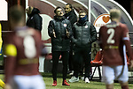 Kelty Hearts v St Johnstone…07.10.20   New Central Park  Betfred Cup<br />Kelty manager Barry Ferguson signals to his players<br />Picture by Graeme Hart.<br />Copyright Perthshire Picture Agency<br />Tel: 01738 623350  Mobile: 07990 594431