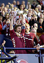 13/05/2006         Copyright Pic: James Stewart.File Name : sct_jspa11_hearts_v_gretna.HEARTS CAPTAIN STEEVEN PRESSLEY LIFTS THE SCOTTISH CUP........Payments to :.James Stewart Photo Agency 19 Carronlea Drive, Falkirk. FK2 8DN      Vat Reg No. 607 6932 25.Office     : +44 (0)1324 570906     .Mobile   : +44 (0)7721 416997.Fax         : +44 (0)1324 570906.E-mail  :  jim@jspa.co.uk.If you require further information then contact Jim Stewart on any of the numbers above.........