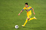 Raymundo Fulgencio of Tigres UANL (MEX) in action against CD Olimpia (HON) during their CONCACAF Champions League Semi Finals match at the Orlando's Exploria Stadium on 19 December 2020, in Florida, USA. Photo by Victor Fraile / Power Sport Images