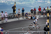 World Champion Julian Alaphilippe (FRA/Deceuninck - QuickStep) enjoying the loud cheers coming over the Mont Ventoux teh second time today.<br /> <br /> Stage 11 from Sorgues to Malaucène (199km) running twice over the infamous Mont Ventoux<br /> 108th Tour de France 2021 (2.UWT)<br /> <br /> ©kramon