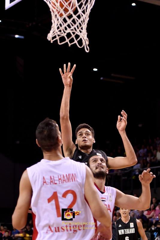 New Zealand Tall Blacks' Tyrell Harrison in action during the FIBA World Cup Basketball Qualifier - NZ Tall Blacks v Syria at TSB Bank Arena, Wellington, New Zealand on Sunday 2 2018. <br /> Photo by Masanori Udagawa. <br /> www.photowellington.photoshelter.com