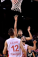New Zealand Tall Blacks' Tyrell Harrison in action during the FIBA World Cup Basketball Qualifier - NZ Tall Blacks v Syria at TSB Bank Arena, Wellington, New Zealand on Sunday 2 2018. <br /> Photo by Masanori Udagawa. <br /> www.photowellington.photoshelter.com