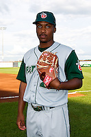 Keyvius Sampson (23) of the Fort Wayne Tin Caps poses for a portrait during the Midwest League All-Star Game at Modern Woodmen Park on June 21, 2011 in Davenport, Iowa. (David Welker / Four Seam Images).