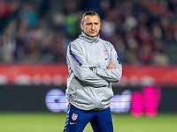 CARSON, CA - FEBRUARY 7: Vlatko Andonovski of the United States watches his team during a game between Mexico and USWNT at Dignity Health Sports Park on February 7, 2020 in Carson, California.