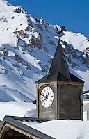 Europe/France/73/Savoie/Val d'Isère: Restaurant  et discothèque d'Altitude: La Folie douce  au sommet du telecabine de la Daille 2290m - détail du clocheton
