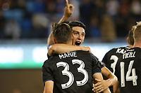 SAN JOSE, CA - JULY 06: Cristian Espinoza #10, Paul Marie #33 during a Major League Soccer (MLS) match between the San Jose Earthquakes and Real Salt Lake on July 06, 2019 at Avaya Stadium in San Jose, California.