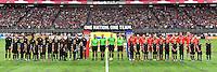 Minneapolis, MN - October 23, 2016: The U.S. Women's National team take on Switzerland in an international friendly game at U.S. Bank Stadium.