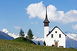 Switzerland, Canton Valais, valley Goms, Ritzinger field chapel at Gluringen