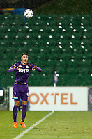23rd May 2021; HBF Park, Perth, Western Australia, Australia; A League Football, Perth Glory versus Macarthur; Christopher Ikonomidis of Perth Glory takes a throw in early in the game