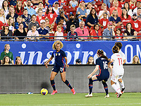 FRISCO, TX - MARCH 11: Casey Short #20 of the United States attempts to pass the ball in the second half during a game between Japan and USWNT at Toyota Stadium on March 11, 2020 in Frisco, Texas.