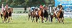 July 27, 2014: Starstruck (IRE) with Kerwin Clark win the Grade III WinStar Matchmaker Stakes for fillies & mares, 3-year olds & up, going 1 1/8 mile on the turf, at Monmouth Park. Trainer: J. Larry Jones. Owner: Calumet Farm. Sue Kawczynski/ESW/CSM