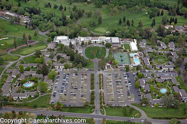 aerial photograph of the Silverado Resort and Spa, Napa, California