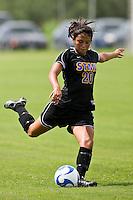 SAN ANTONIO, TX - AUGUST 26, 2007: The Georgian Court University Lions vs. the St. Mary's University Rattlers Women's Soccer at the St. Mary's Soccer Field. (Photo by Jeff Huehn)