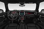 Stock photo of straight dashboard view of 2018 MINI Cooper JCW Door Hatchback Dashboard