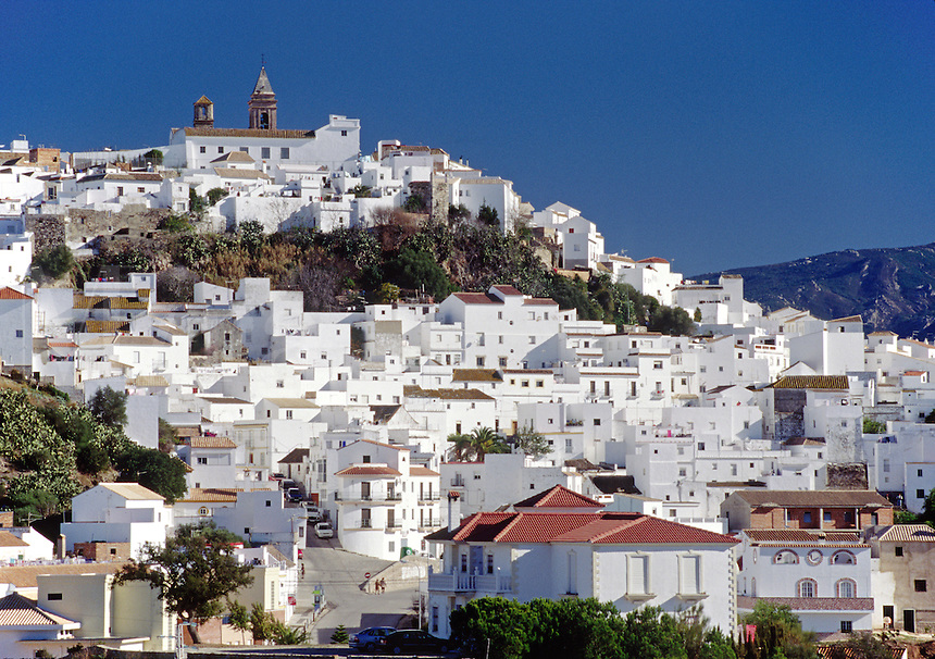 The sparkling white washed town of ALCALA DE GAZULES in central SPAIN
