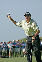 August 7, 2005, Montreal (Qc) Canada<br /> Peter Tomasulo wins the the<br /> Montreal Open presented by Lexus. <br /> As an amateur, Tomasulo has done it all. Besides captaining the University<br /> of California (Berkeley) to its first NCAA national championship in 2004, he<br /> is also an NCAA All-American and a two-time U.S. Palmer Cup team member. The transition to the pros has been nothing more than a speed bump for<br /> Tomasulo. In eight events this year, he has made six cuts, finishing in the<br /> top six on five of those occasions. Beginning this week fifth on the Tour<br /> money list, Tomasulo is also coming off his first professional win at the<br /> Long Beach Open in his home state.<br /> Photo : (c) 2005 Pierre Roussel