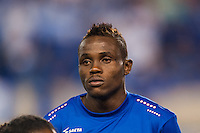 Haiti midfielder Charles Herold Junior (4) during a CONCACAF Gold Cup group B match at Red Bull Arena in Harrison, NJ, on July 8, 2013.